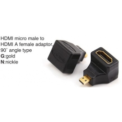 TR-12-P-001A HDMI micro male to HDMI mini female adaptor,90°angle type