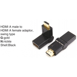TR-11-009 HDMI A male to HDMI A female adaptor,swing type