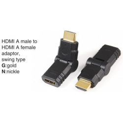 TR-10-018 HDMI A male to HDMI A female adaptor,swing type