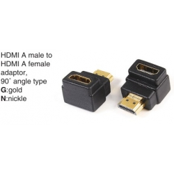 TR-10-019 HDMI A male to HDMI A female adaptor,90°angle type
