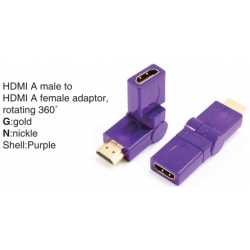 TR-13-006-6 HDMI A male to HDMI A female adaptor,rotating 360°