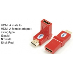 TR-13-009-3 HDMI A male to HDMI A female adaptor,swing type