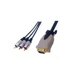 MOULDED HD 15PIN PLUG TO 3RCA PLUG(RGB)