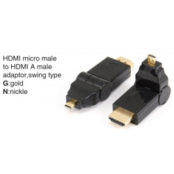 TR-12-001 HDMI mini male to HDMI A female adaptor,swing type