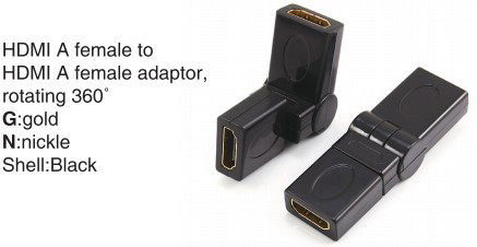 TR-11-008 HDMI A male to HDMI A female adaptor,swing type