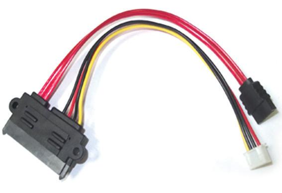 SATA 7+15Pin Female to SATA 7Pin+ XH2.54 4Pin