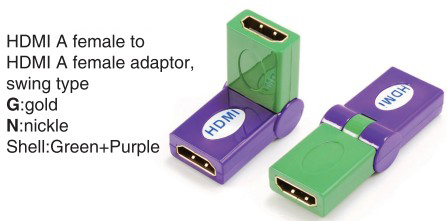 TR-13-007-9 HDMI A female to HDMI A female adaptor,swing type