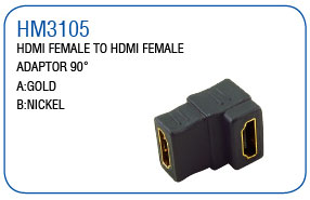 HDMI FEMALE TO HDMI FEMALE ADAPTOR 90°