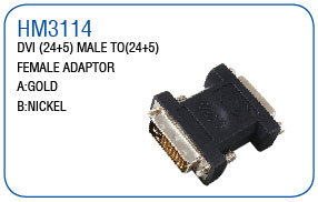 DVI(24+1)MALE TO(24+5) FEMALE ADAPTOR