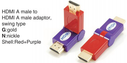 HDMI A male to HDMI A female adaptor,swing type