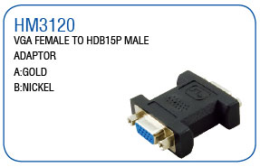 VGA FEMALE TO HDB15P MALE ADAPTOR