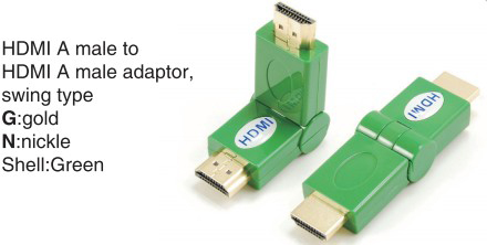 TR-13-010-5 HDMI A male to HDMI A female adaptor,swing type