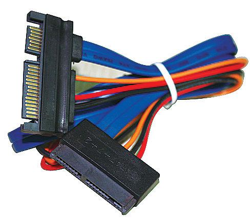 SATA 7+15Pin Male to 7+7+2 Female