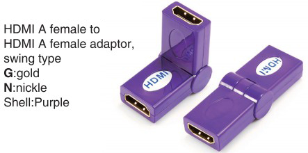 TR-13-007-7 HDMI A female to HDMI A female adaptor,swing type