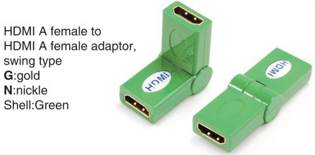 TR-13-007-5 HDMI A female to HDMI A female adaptor,swing type
