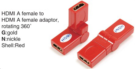 TR-13-008-3 HDMI A male to HDMI A female adaptor,rotating 360°