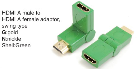 TR-13-009-4 HDMI A male to HDMI A female adaptor,swing type