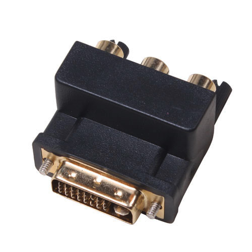 DVI 24+1 Male to 3RCA Adaptor