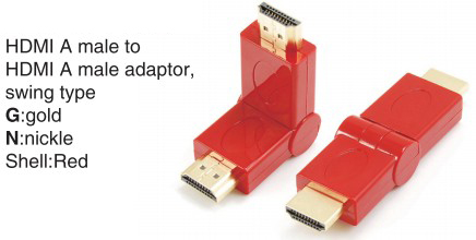 TR-13-010-2 HDMI A male to HDMI A female adaptor,swing type