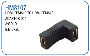 HDMI FEMALE TO HDMI MALE ADAPTOR 90°