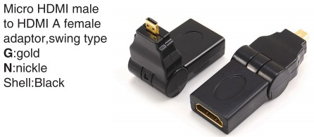 TR-11-001 HDMI A male to HDMI A female adaptor,swing type