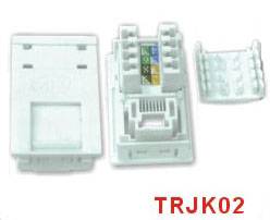 CAT.5E RJ45 Socket Dual IDC Block