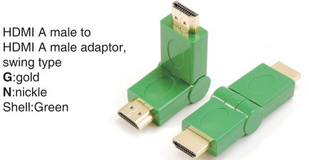 TR-13-010-4 HDMI A male to HDMI A female adaptor,swing type