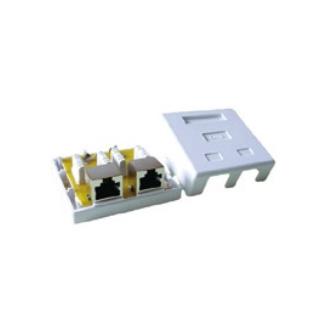 Cat.6 FTP RJ45 surface jack 2 ports
