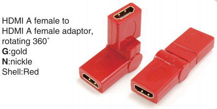 TR-13-008-2 HDMI A male to HDMI A female adaptor,rotating 360°
