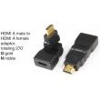 TR-10-017 HDMI A male to HDMI A female adaptor,rotating 270°