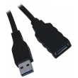 1.8M USB3.0 A/M to A/F black