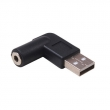 USB AM to DC 3.5mm Female 90Degree