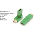 TR-13-006-4 HDMI A male to HDMI A female adaptor,rotating 360°