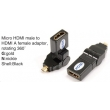 TR-13-002-1 Micro HDMI male to HDMI A female adaptor,rotating 360°