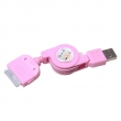 Retractable USB data Cable for iphone