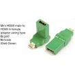 TR-13-003-4 Mini HDMI male to HDMI A female adaptor,swing type