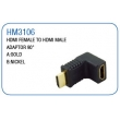 HDMI FEMALE TO HDMI MALE ADAPTOR 90°