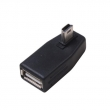 USB A Female TO Mini 5pin Male 90° Angle ADAPTOR