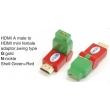 TR-13-005-9 HDMI A male to HDMI mini female adaptor,swing type