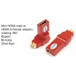 TR-13-004-3 Mini HDMI male to HDMI A female adaptor,rotating 360°