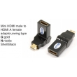 TR-13-003-1 Mini HDMI male to HDMI A female adaptor,swing type