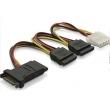 Power SATA Cable ADP SATA 15Pin Female male to SATA 15Pin/power 4pin