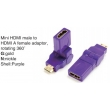 TR-13-004-6 Mini HDMI male to HDMI A female adaptor,rotating 360°