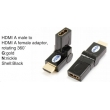 TR-13-006-1 HDMI A male to HDMI A female adaptor,rotating 360°