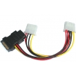 Power SATA Cable ADP SATA 15Pin power 4pin to 2xpower 4pin