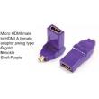 TR-13-001-6 Micro HDMI male to HDMI A female adaptor,swing type