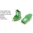 TR-13-001-5 Micro HDMI male to HDMI A female adaptor,swing type