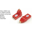 TR-13-001-3 Micro HDMI male to HDMI A female adaptor,swing type