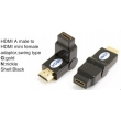 TR-13-005-1 HDMI A male to HDMI mini female adaptor,swing type