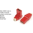 TR-13-003-2 Mini HDMI male to HDMI A female adaptor,swing type
